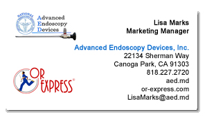 aed business card